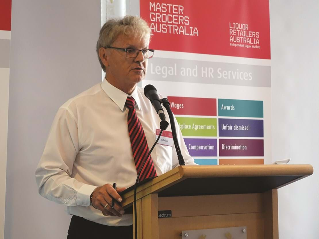 Rod Allen at the MGA Industry Business Breakfast in Perth 2015