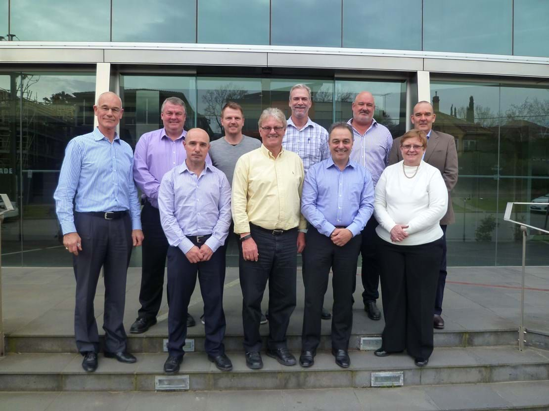 MGA Board Members (2015) - Top: Jos de Bruin, Steve Miller, Grant Hinchcliffe, Michael Daly, Andrew Bray, Gino Divitini; Bottom: Chris dos Santos, Rod Allen, Ian Morrice - former Metcash CEO and Debbie Smith